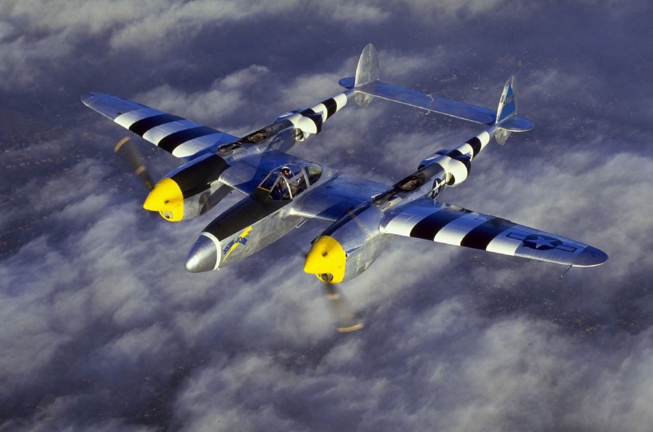 P38 in flight